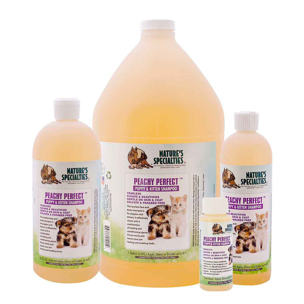 Nature's Specialties Peachy Perfect Puppy and Kitten Shampoo