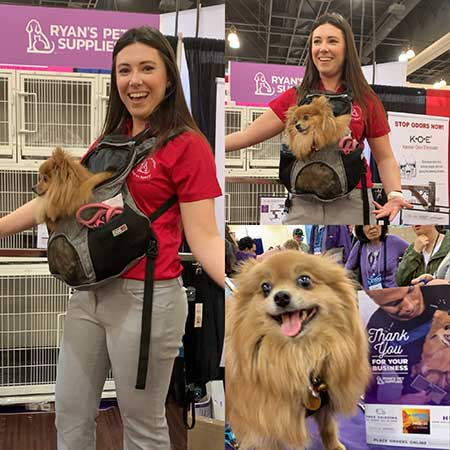 Casey and Bijou at Groom Expo West