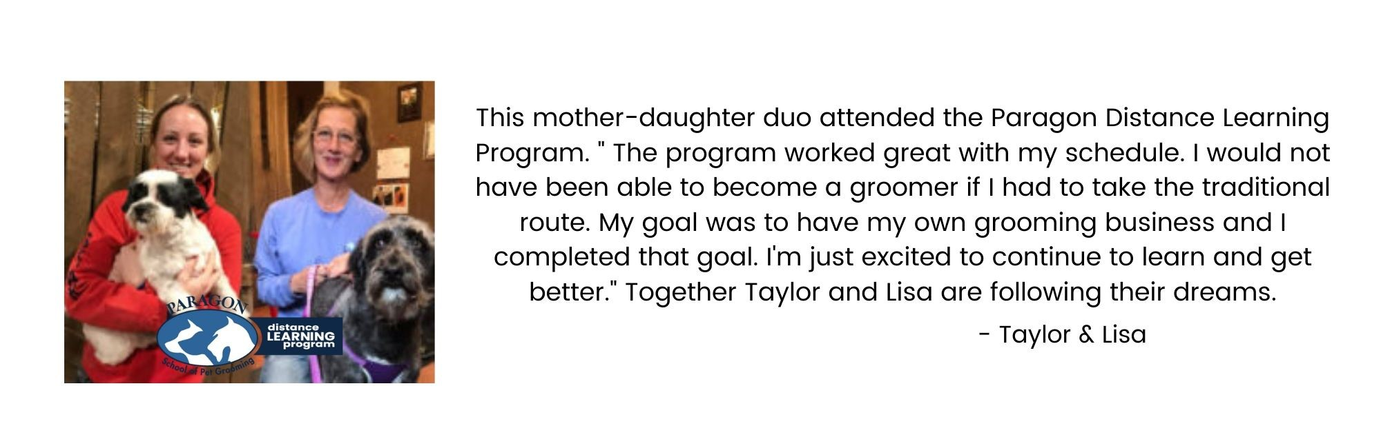 Taylar and Lisa's Paragon Distance Learning Success Story