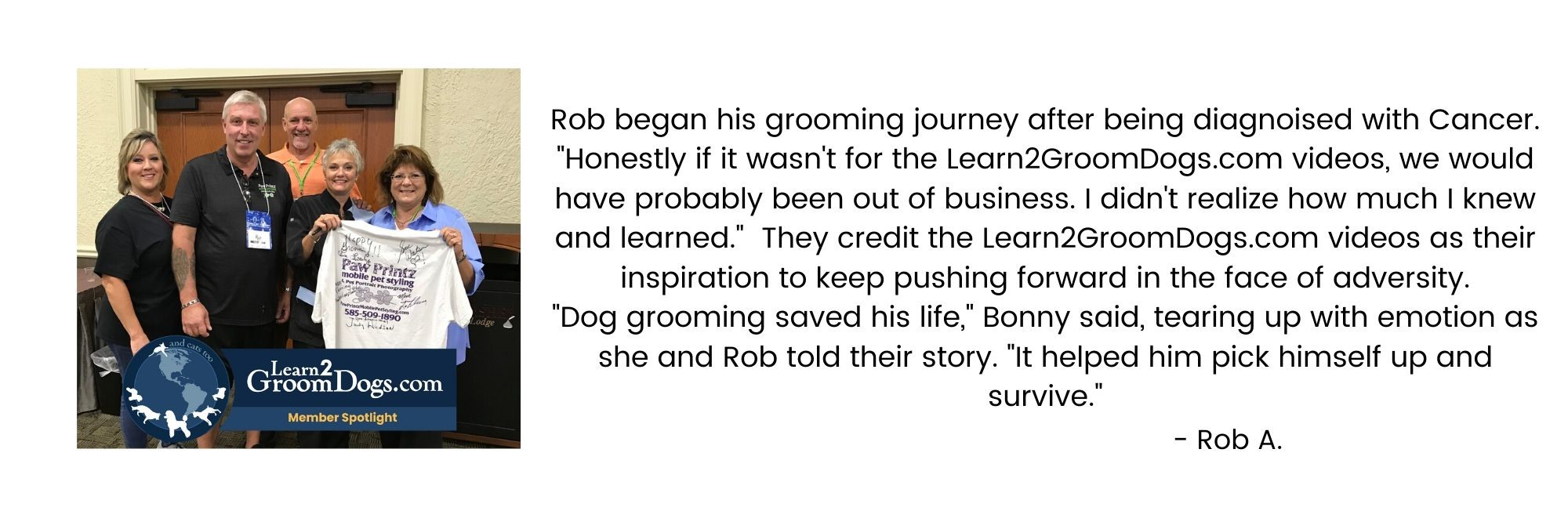 Rob's Learn2GroomDogs.com Success Story