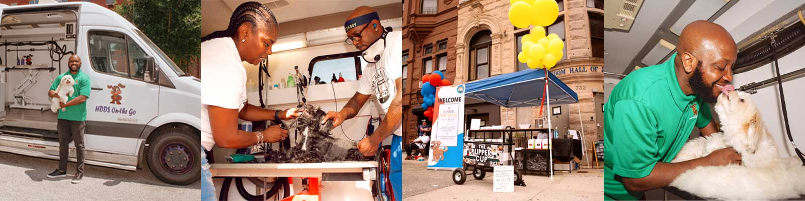 Pup Relief Tour hits the streets with their mobile van and grooming set ups to take care of pets in need