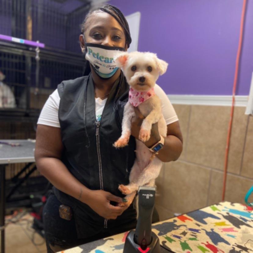 Gloria Hardaway at the Pandemic Pup Relief Tour
