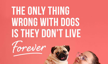 The only thing wrong with dogs is they don't live forever