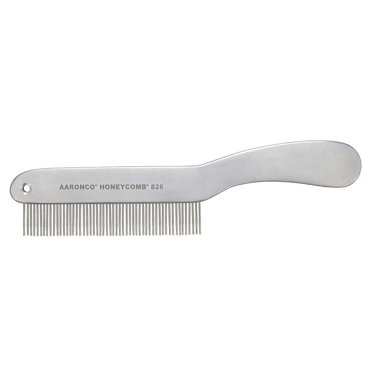 "Grooming Comb AARONCO HONEYCOMBS 8.5"" Short Hair 51 Medium Teeth ¾"" Long"