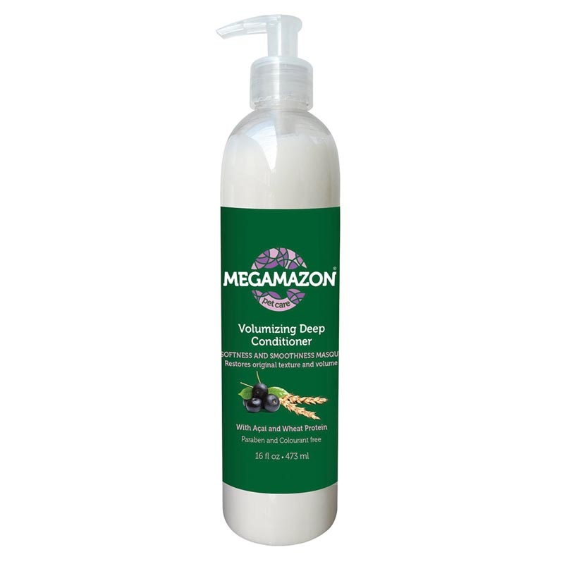 Buy Megamazon Volumizing Deep Conditioner Acai and Wheat Protein 16 oz for Dogs