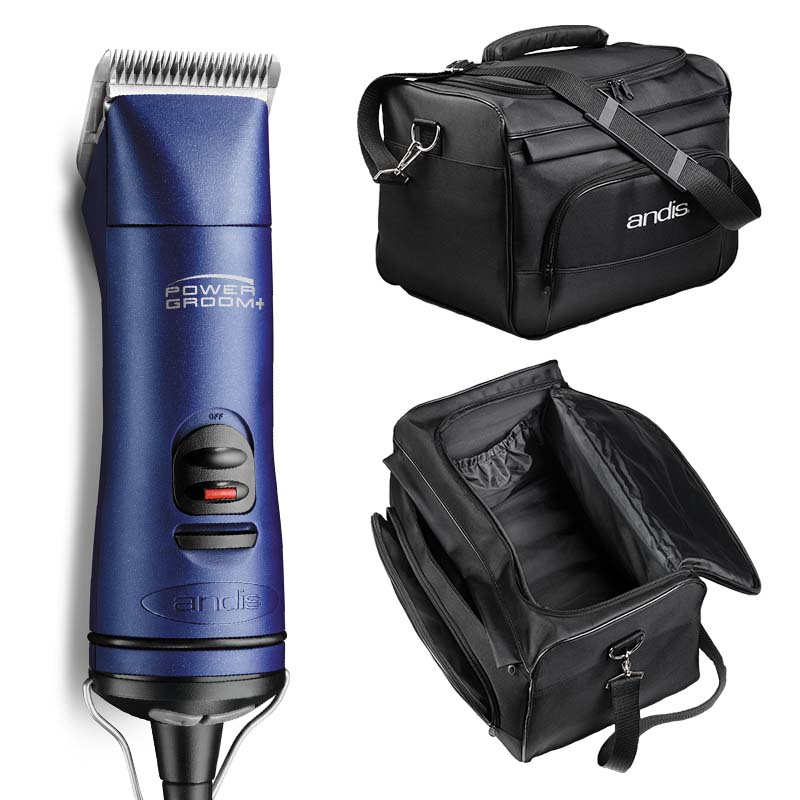 Andis Power Groom Plus Grooming Clipper with Tote Bag available at Ryan's Pet Supplies