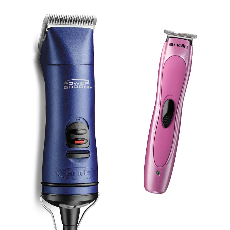 Andis Power Groom Plus Grooming Clipper with Artistic Groomer Trimmer