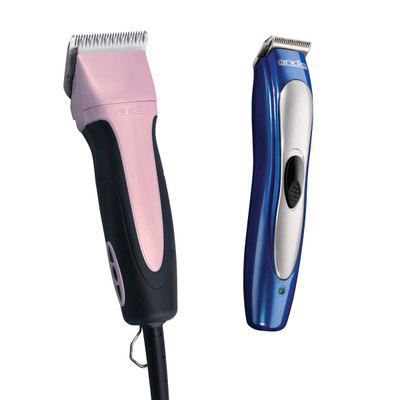 Andis 5-Speed SMC Excel Clipper Pink and Trimmer