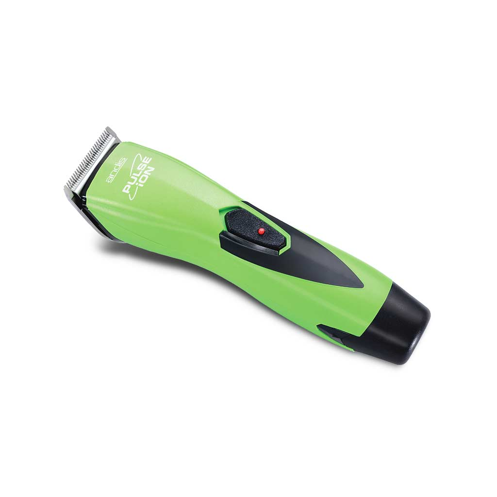 Side View of Lime Green Andis Pulse Ion Lithium Ion Clipper