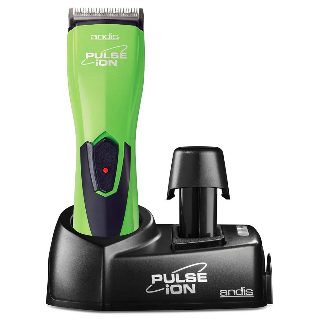 Charging station and stand for Lime Green Andis Pulse Ion Lithium Ion Clipper