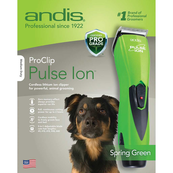 Box for Lime Green Andis Pulse Ion Lithium Ion Clipper