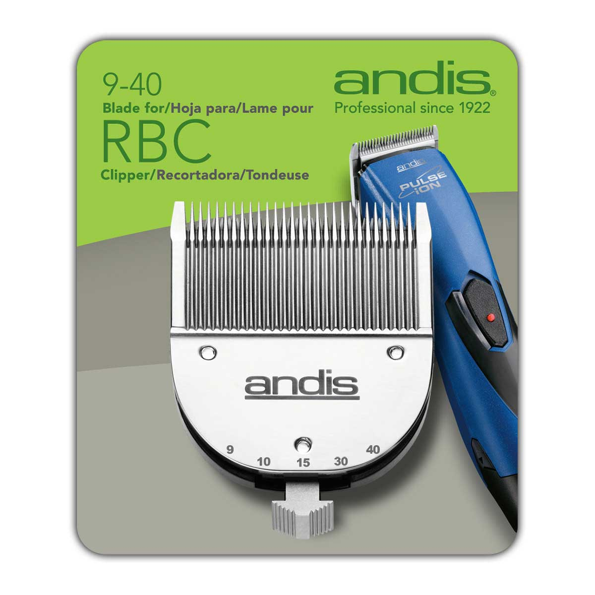 Andis Pulse Ion Stainless Steel Adjustable Blade fits Andis ProClip Pulse Ion clipper