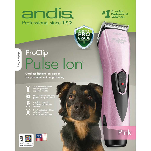 Box of Pink Andis Pulse Ion Lithium Ion Grooming Clipper