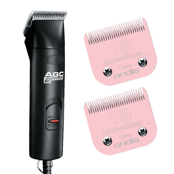 Andis 2-Speed AGC Clipper and Number 10 Pink EGT Blade Bundle