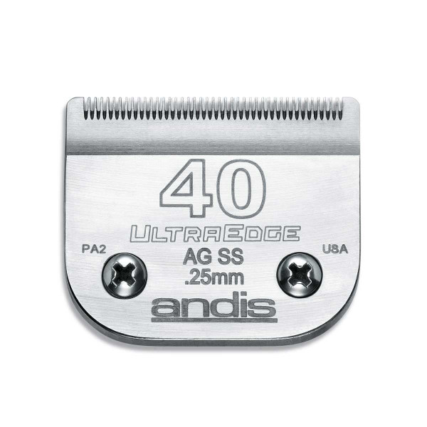Andis Ultraedge Blade (#40SS) Stainless Steel 1/100 inch Cut
