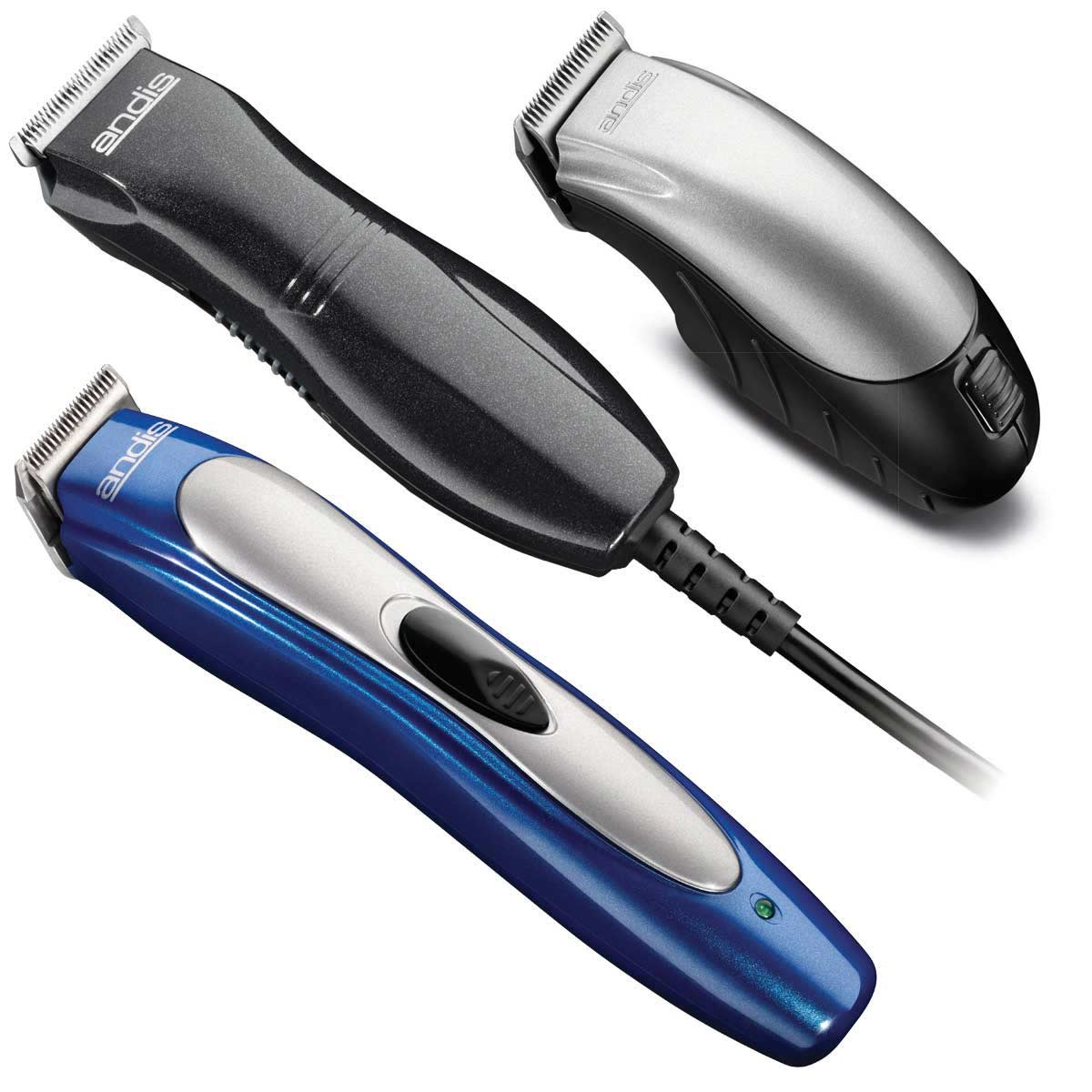 Andis 3-Pack Trimmer Kit includes Andis EasyClipMini Clipper, Andis ProTrim Li+ Clipper, and Andis Trim n Go Clipper