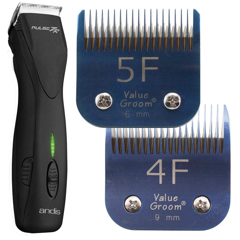 Andis PulseZR Li+ 5 Speed Clipper with #10 Pink EGT Blade & #7FC Pink EGT Blade