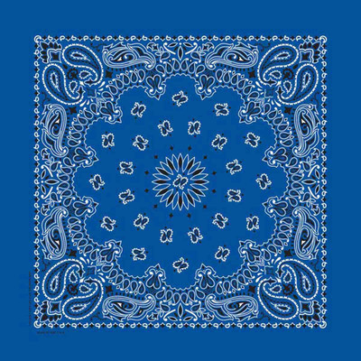 Poly/Cotton Blend Royal Paisley Bandanna for Dogs by Fancy Finishes