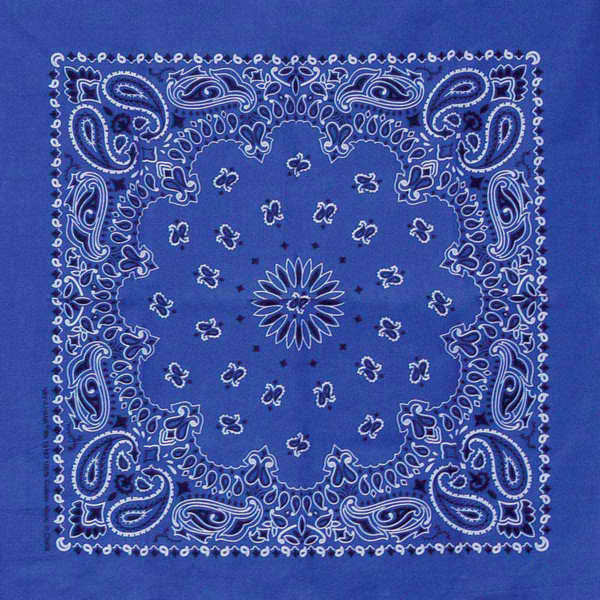 Poly/Cotton Blend Navy Paisley Bandanna for Dogs by Fancy Finishes