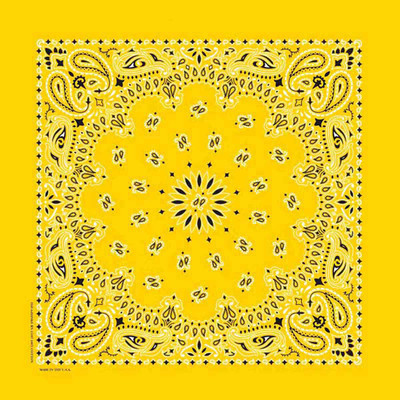 Poly/Cotton Blend Lemon Paisley Bandanna for Dogs by Fancy Finishes