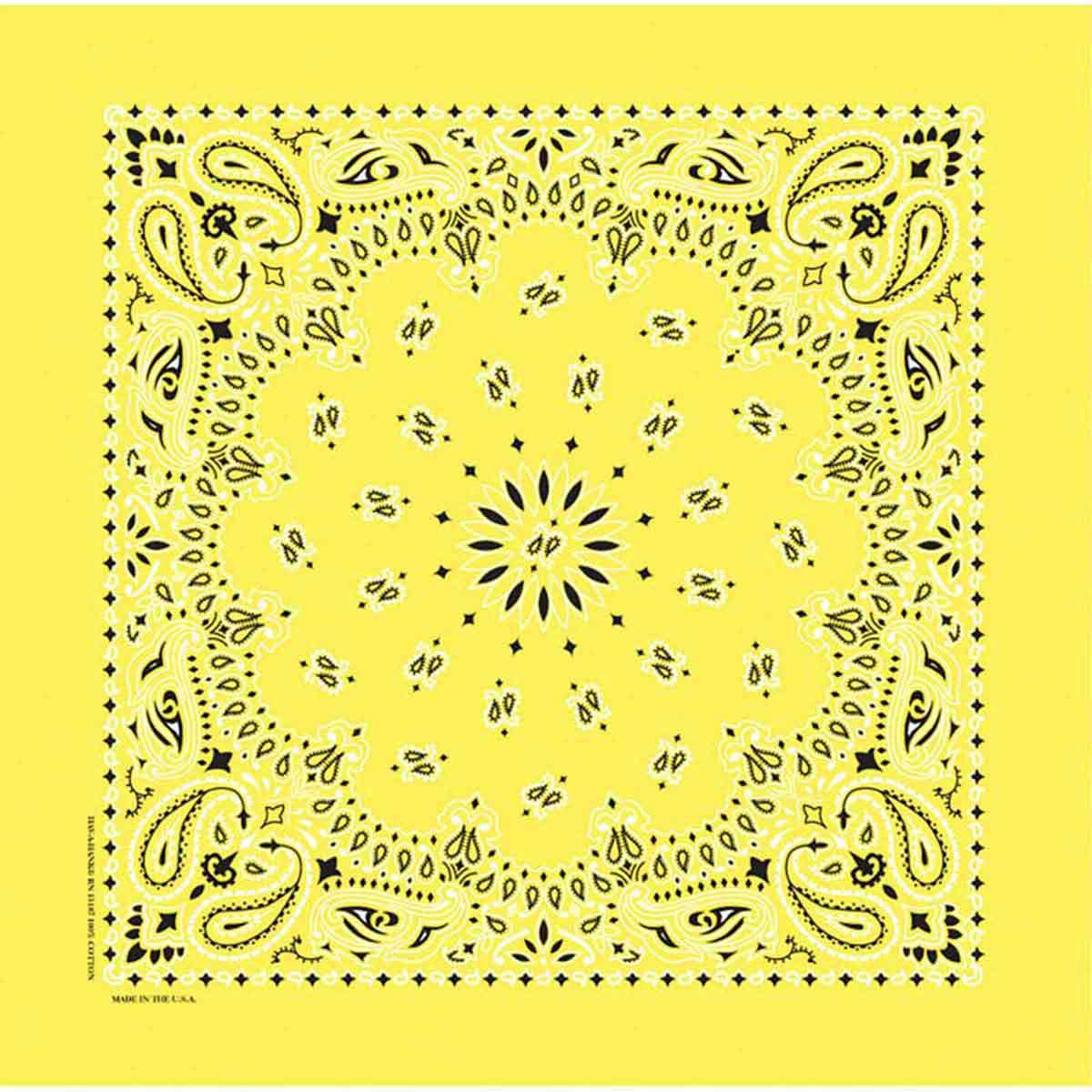 Poly/Cotton Blend Yellow Paisley Bandanna for Dogs by Fancy Finishes