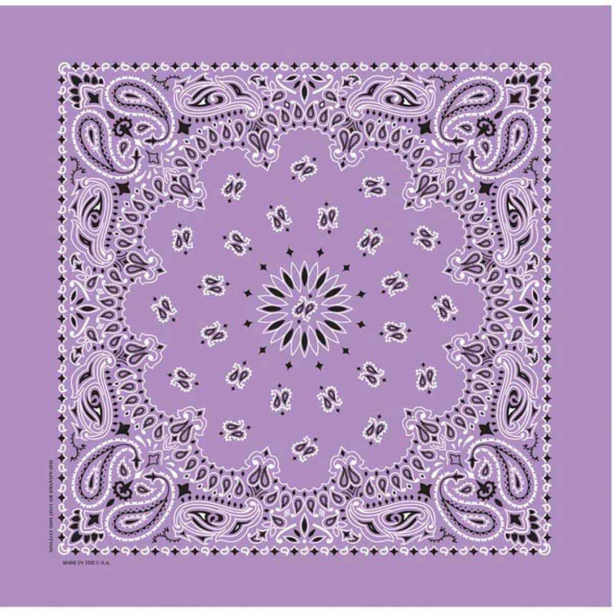 Poly/Cotton Blend Lavender Paisley Bandanna for Dogs from Fancy Finishes