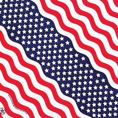 Poly/Cotton Blend Stars And Stripes Bandanna for Dogs by Fancy Finishes