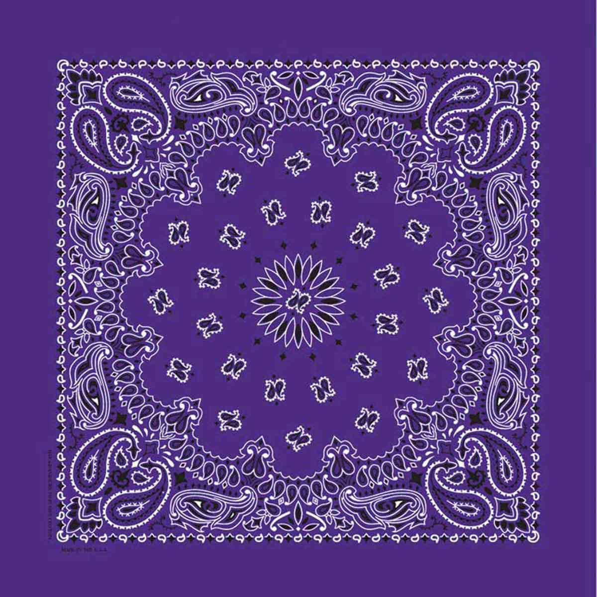 Poly/Cotton Blend Purple Paisley Bandanna for Dogs from Fancy Finishes