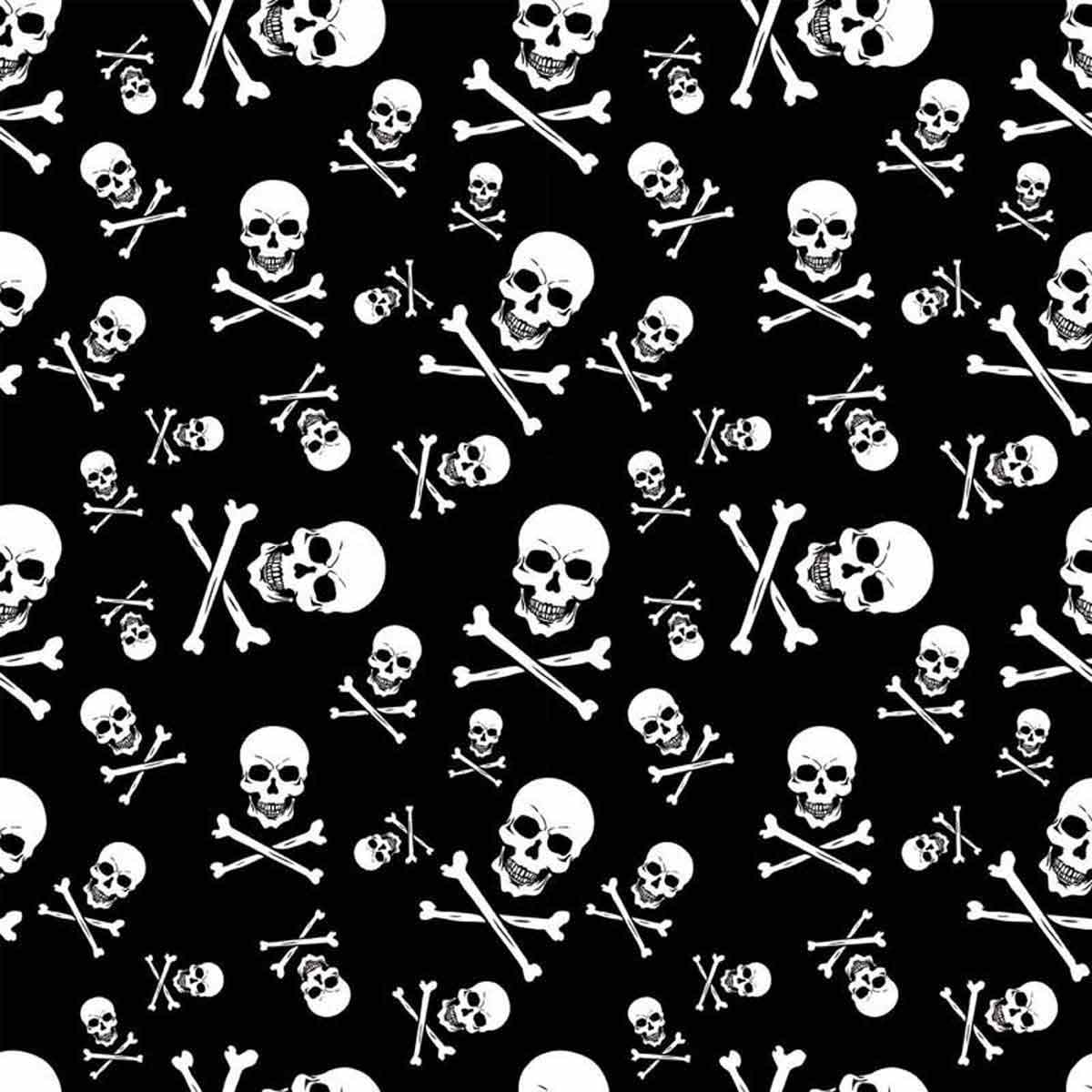 Poly/Cotton Skull And Crossbones Bandanna for Pets from Fancy Finishes