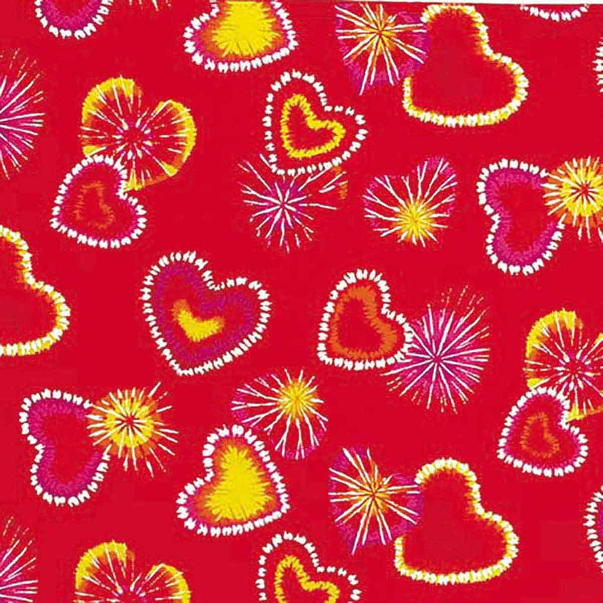 Poly/Cotton Blend Retro Red Hearts Bandanna for Pets from Fancy Finishes
