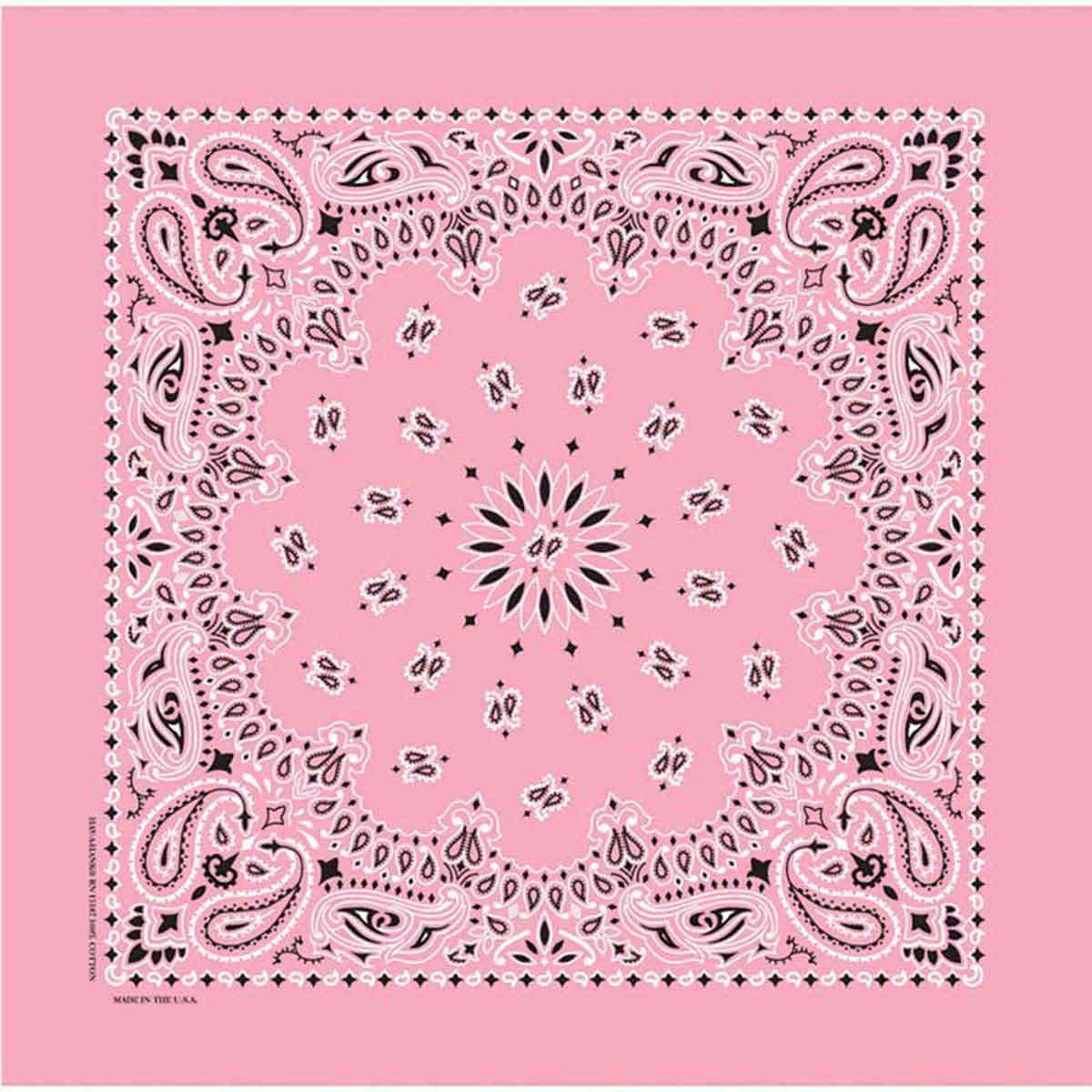 Poly/Cotton Blend Light Pink Paisley Bandanna for Small and Large Dogs from Fancy Finishes
