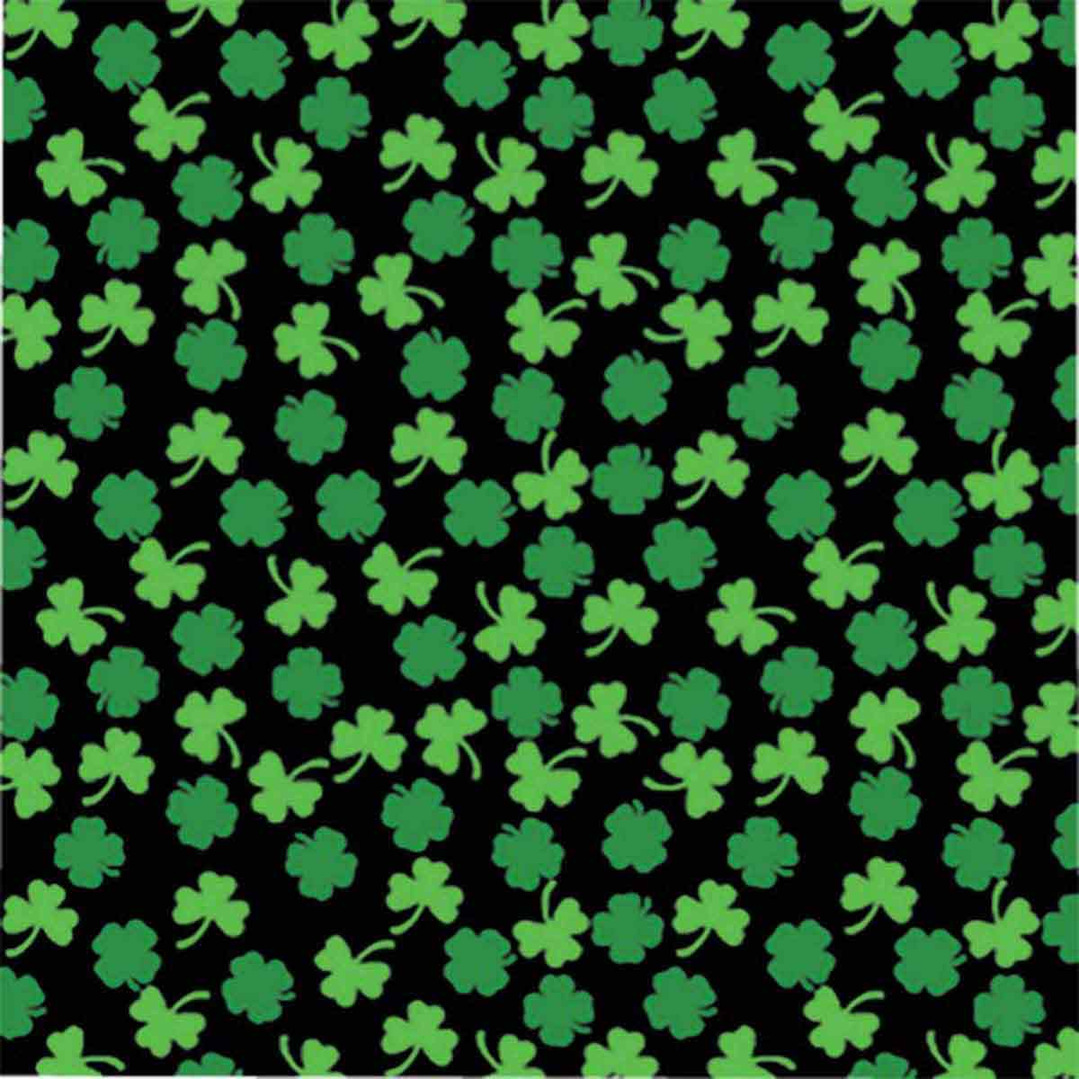 Fancy Finishes Poly/Cotton Blend Shamrocks Square Dog Bandanna