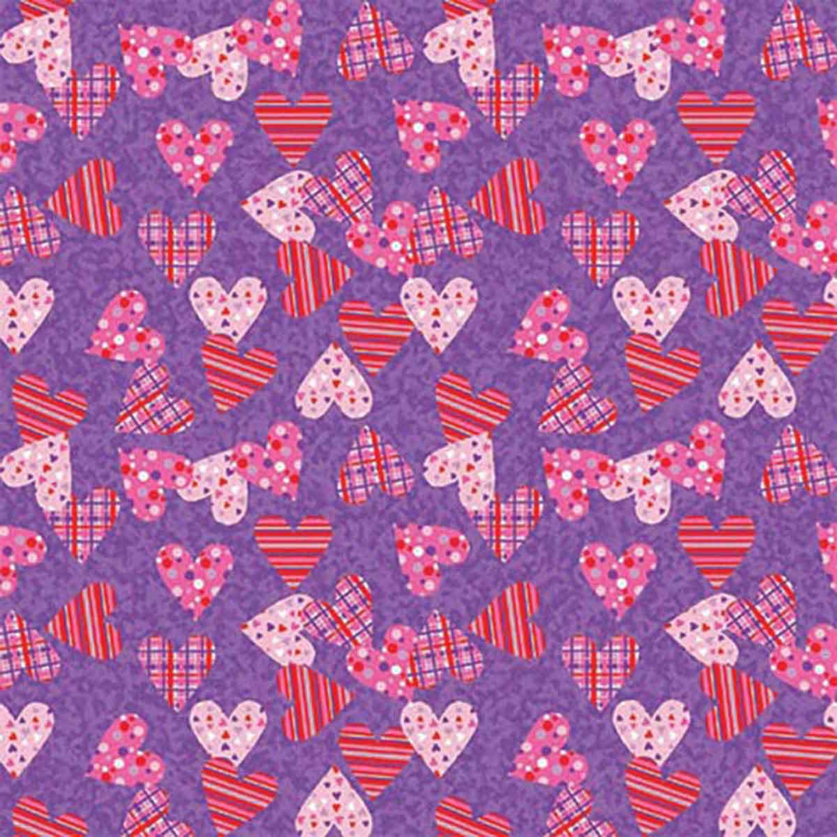 Plaid & Polka Dot Hearts Dog Bandanna Square Poly/Cotton Blend by Fancy Finishes