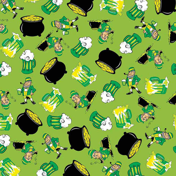 Fancy Finishes Poly/Cotton Blend Square St. Patty's Party Bandanna for Dogs