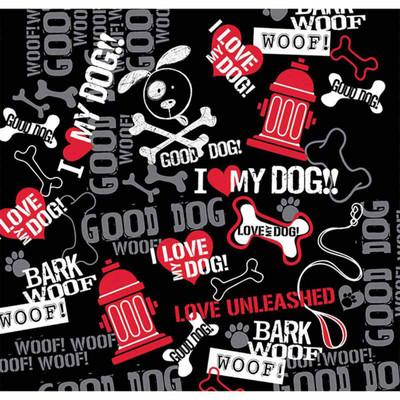 Bark Woof Woof Dog Bandanna