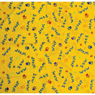 Woof Bow Wow Yellow Dog Bandanna