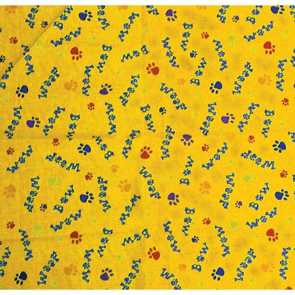 Woof Bow Wow Yellow Dog Bandanna