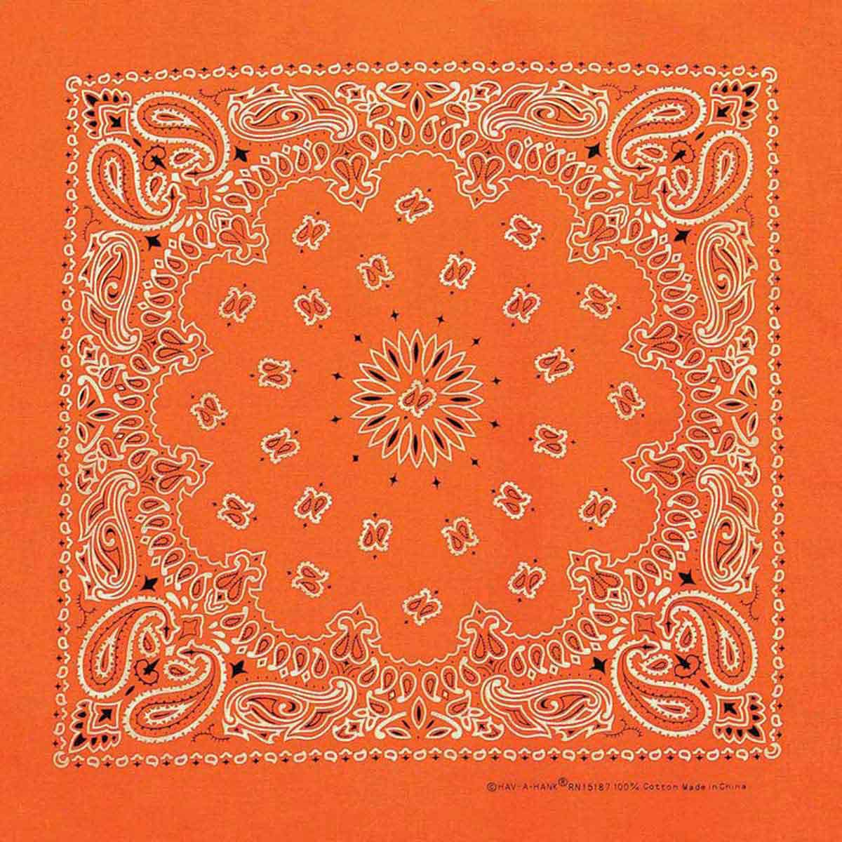 Neon Orange Paisley Dog Bandannas for Dog Grooming
