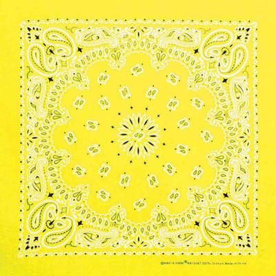 Neon Yellow Paisley Dog Bandanna