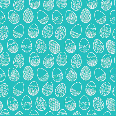 Easter Eggs Turquoise Bandanna for Dogs