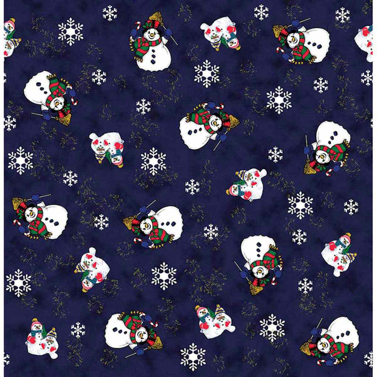 Snowman With Snowflakes Dog Bandanna available at Ryan's Pet Supplies