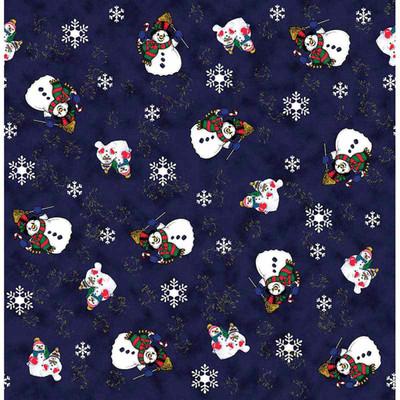 Snowman With Snowflakes Dog Bandanna available at Ryan's Pet Supplies