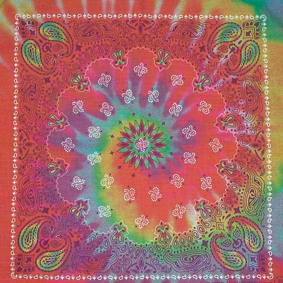 Tie Dye Paisley Bandanna for Dogs