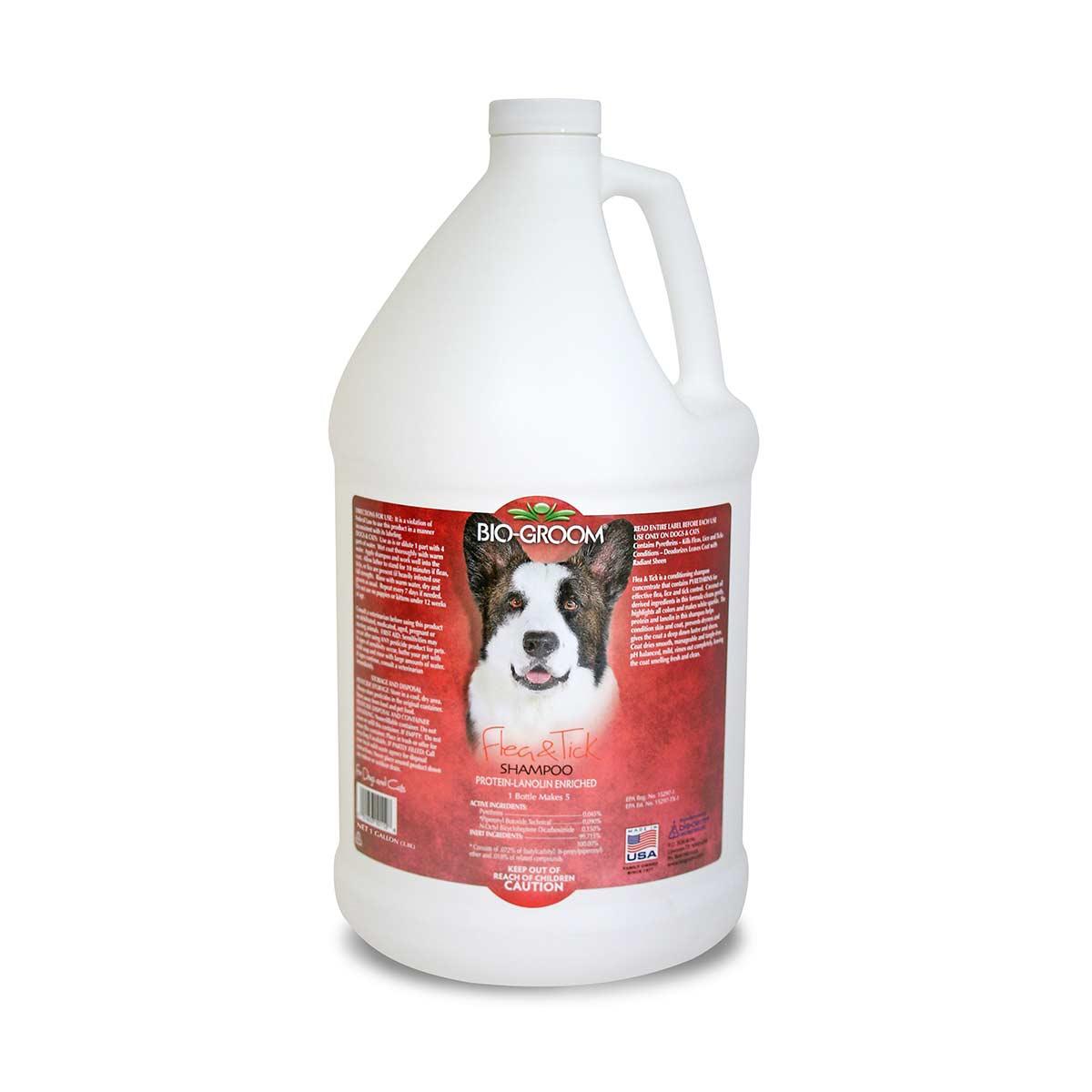 Bio-Groom Flea & Tick Dog Shampoo Gallon 4:1