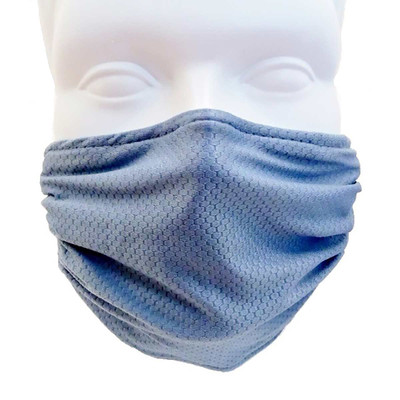 Breathe Healthy Honeycomb Steel Blue Face Mask - Safety for Groomers