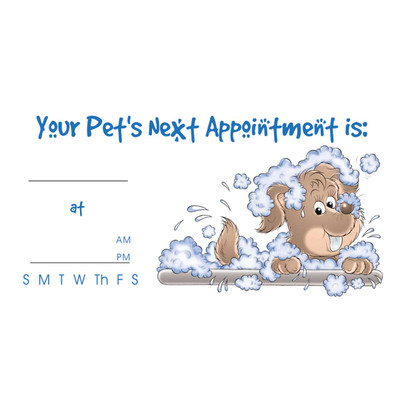 Barkleigh 2 x 3.5 inch Pet Grooming Appointment Kards - 100 Count at Ryan's Pet Supplies