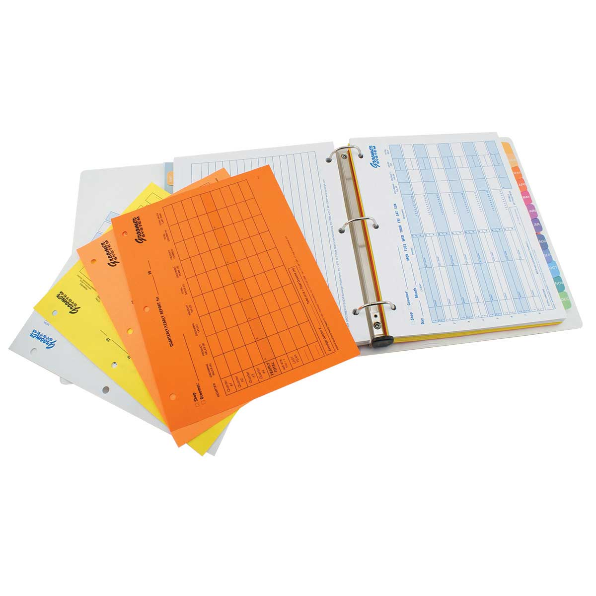 Groomer System Complete Binder with Appointment Sheets for Professional Groomers