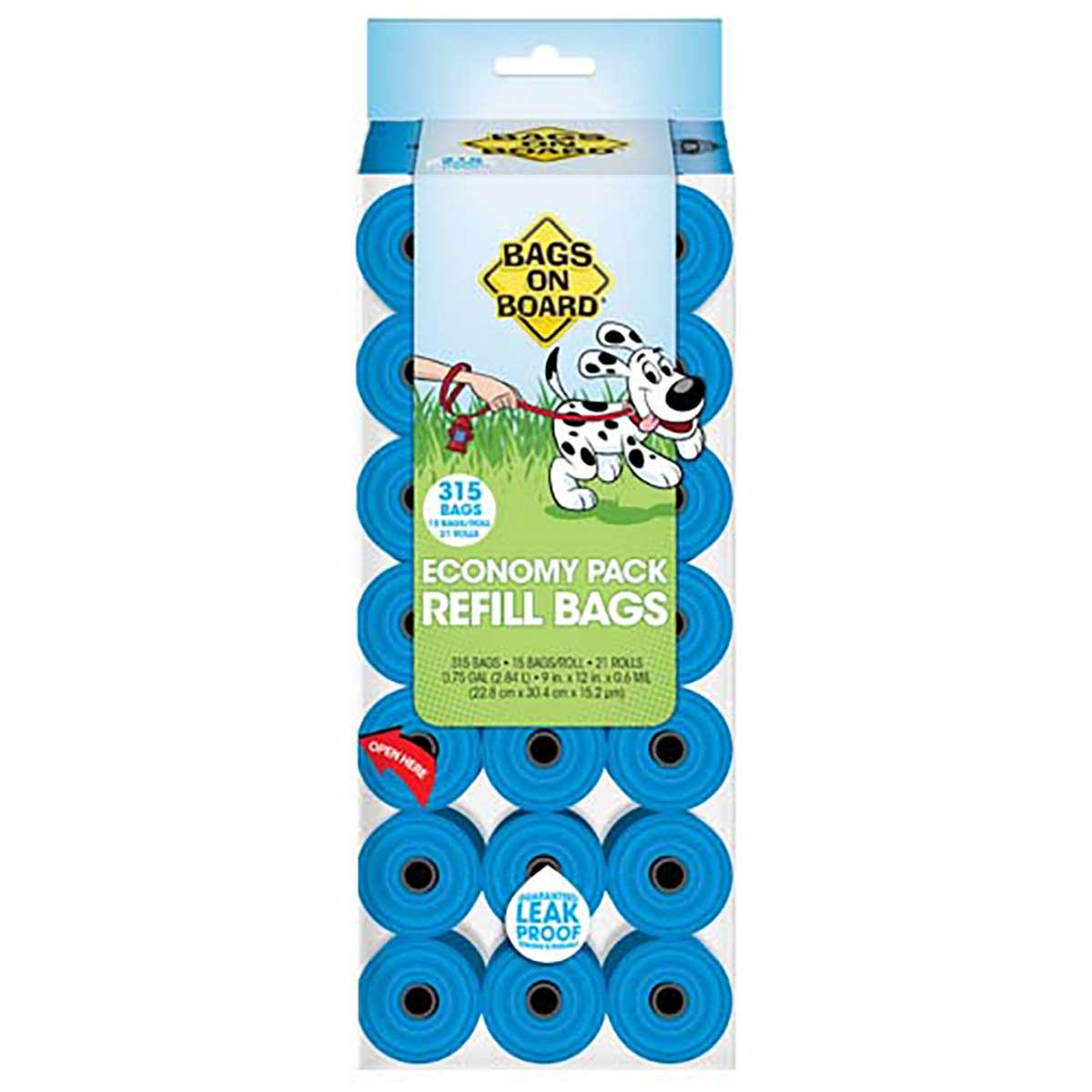 Bags on Board Blue Pantry Pack Poop Bag Refill (315 Bags) Economy Size at Ryan's Pet Supplies