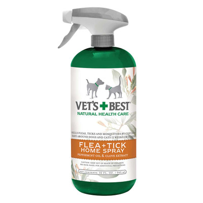 32 ounce Vet's Best Flea & Tick Home Spray for Dogs with Peppermint Oil and Clove Extract
