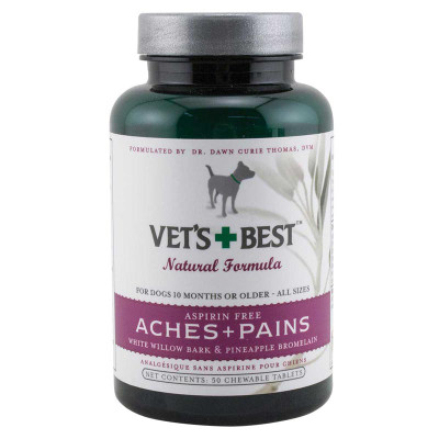 Aspirin Free Vet's Best Aches + Pains 50 Chewable Tablets for active and senior dogs